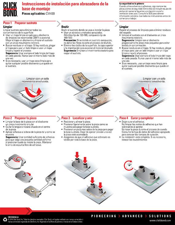 Clamp Mount Base Installation Instructions Spanish Click Bond