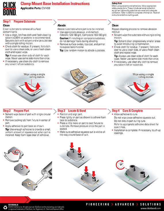 Clamp Mount Base Installation Instructions Click Bond